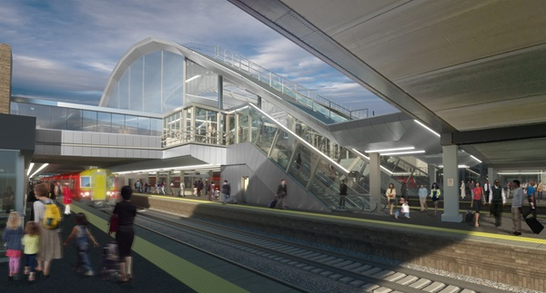 Architect's impression of the new passenger concourse